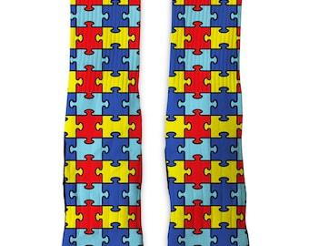 Custom Autism SS Athletic Socks