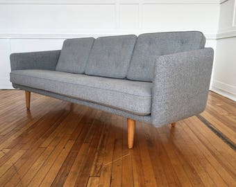 Mid Century Rare Original Danish No. 1 Sofa by Borge Mogensen for Fredericia Stolefabrik in Kvadrat Wool