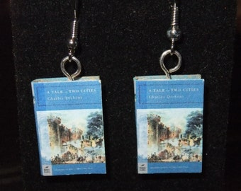 A Tale of Two Cities Book Earrings