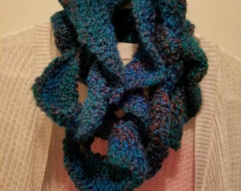Ready to Ship - Crocheted Curly Scarf - Teen/ Adult