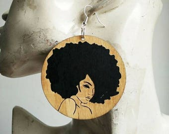 There is More to Me than What Meets the Eye- Wooden Earrings- Qty: 1 pair