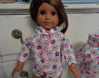 "18"" Doll - Pullover Shirt- Shown on my American Girl Doll"