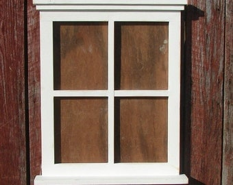 "Four pane window picture  frame 22"" wide x 27"" tall"