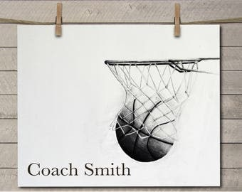 Basketball Coach Gift - Personalized Basketball Coach Gift - Custom Basketball Coach Gift - Coach Gift - PE Teacher Gift - Gym Teacher Gift