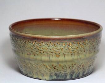 stoneware pottery bowl, pottery serving bowl