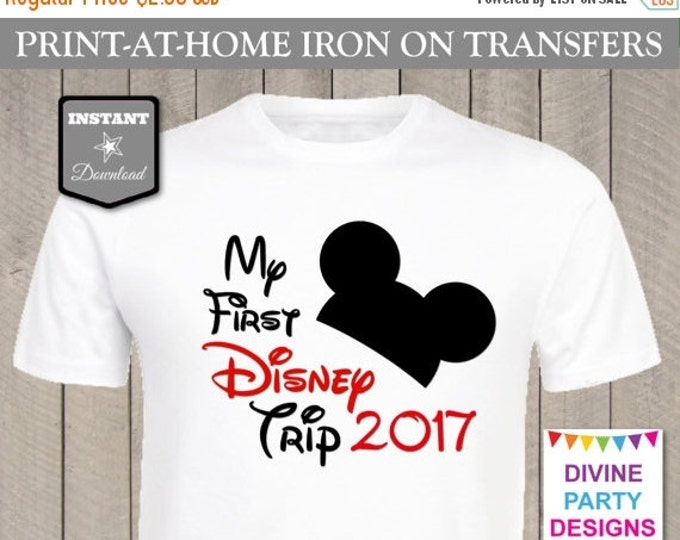 SALE INSTANT DOWNLOAD Print at Home Mouse My First Disney Trip 2017 Iron On Transfer / Printable / T-shirt / Item #2301