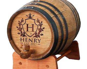 Personalized Whiskey Barrel, Wine Barrel, 1 or 2 or 3 Liter Whiskey Barrel, Groomsmen Gift, Bourbon Barrel, Wooden Barrel, Mini Oak Barrel