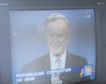 Original 1996 President George Bush Republican Convention TV Television Snapshot Photo - Free Shipping