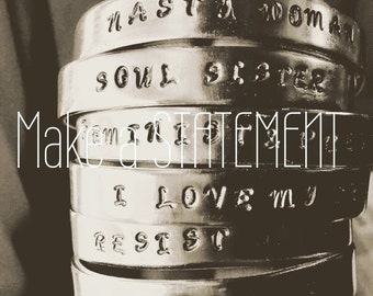 Custom quote bracelet, make a statement