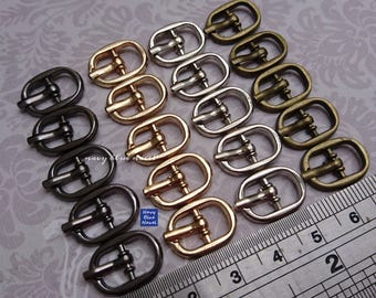Miniature belt buckle, tiny, doll belt closure, 4 metallic tones, suitable for BJDMinifee, Feeple, Josd