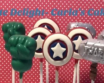 Avengers Cake Pops, 12 pops