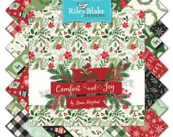 Comfort and Joy Fat Quarater Bundle by Designs by Riley Blake Designs