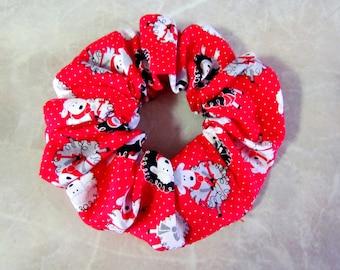 Knitting Sheep Hair Scrunchie 100% Cotton