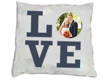 Pillow Personalized LOVE Photo