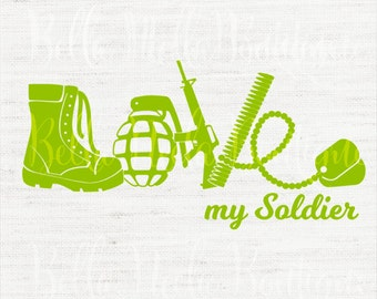 LOVE my Soldier //army//service member//military// decal