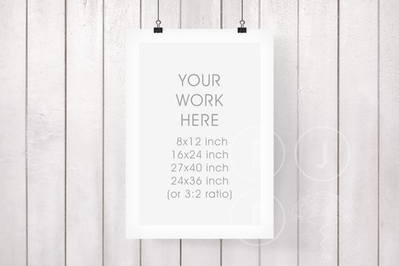 hanging frame mockup white room room mock up 8x12 16x24 24x36 27x40