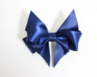 1 pcs/lot 3 inch (80mm) Satin Bows Wedding bows Boutique hair bows Hair clips Girls hair bows Adults hair bow