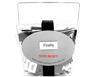 Firefly Poetry Magnet Set - Refrigerator Poetry Word Magnets - Free Gift Wrap