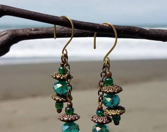 Dangle seagreen earrings