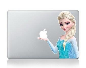 Elsa from frozen vinyl decal, sticker for Apple Macbook Pro Mac 13inch