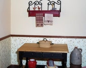 Dollhouse Miniature Dutch Oven Roasting Pot Pan