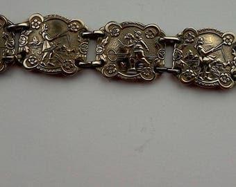Vintage Metal Link Bracelet