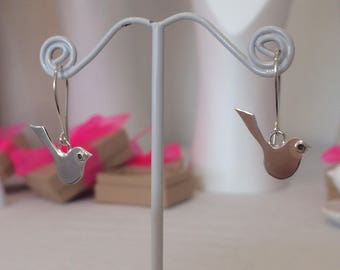 Little Bird Earrings - Sterling Silver