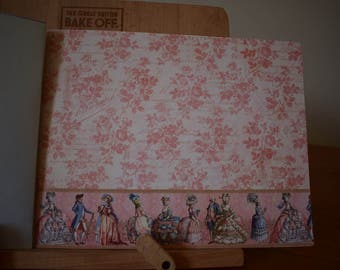 Handmade Scrapbook Photo Album Renaissance Pink & Blue