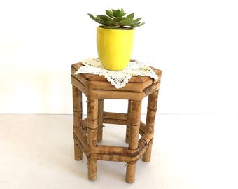 Bamboo Plant Stand Etsy