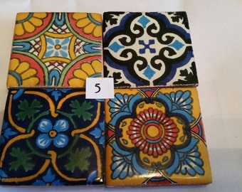 Mexican Tile Refrigerator Magnet Set of 4 strong neodymium #5