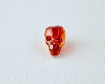 13mm Swarovski™ Crystal Skull Bead Magma