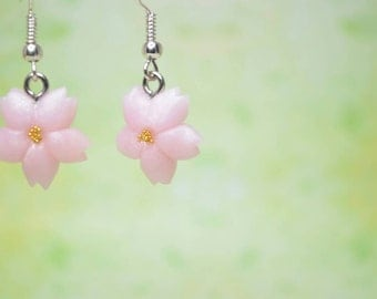 Kawaii/ Cute Sakura/ Cherry Blossom Flower Earrings