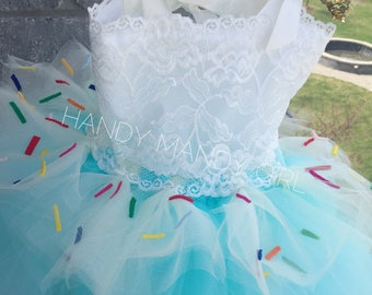"The ""Aria"" Cupcake lace tutu dress -sweet tutu - donut tutu skirt- tutu with sprinkles"