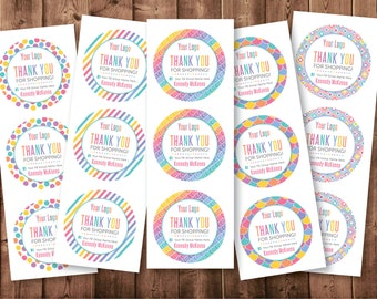 """Round Stickers   1.5""""   2.5""""   3.0""""   Personalized with your Name and FB Group Name   DIGITAL PRINTABLE"""