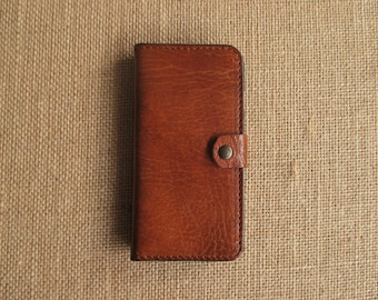Leather iPhone 7 case and wallet, handmade sleeve, cover, Eco-friendly leather