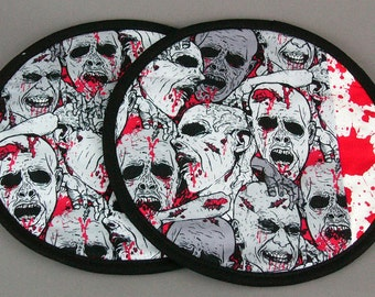 Two Pot Holders - Zombies