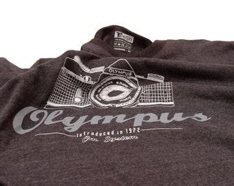 OLYMPUS Film Camera T-Shirt Silkscreen Handmade