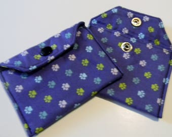 Blues with paw prints mini wallet / card holder