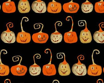 Pumpkin Fabric, Halloween pumpkins, Halloween Fabric, Witchy Collection from STudio E