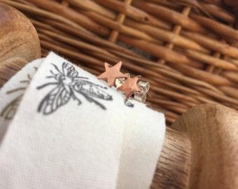 Handmade Copper Star Earrings