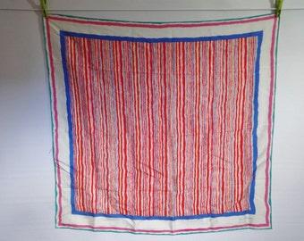 "Vintage Gina Thompson Avant Garde Striped scarf 80cm x 85cm / 31.4"" x 33.4"""