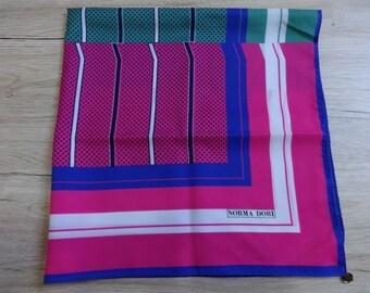 """Vintage Norma Dori Avant Garde Striped scarf shawl 75cm x 77cm / 29.5"""" x 30.3"""""""