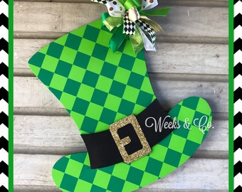 Lucky St. Patrick's Leprechaun Hat with Gold Glitter Buckle