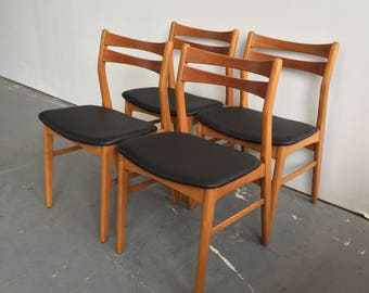Set of 4 Vintage Danish Modern Dining Chairs - 750 OBO - Free NYC Delivery!