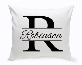 Personalized Stamped Design Throw Pillow - Personalized Decor Pillow - Personalized Couple's Throw Pillow - Couple's Gifts - GC1259 Stamped
