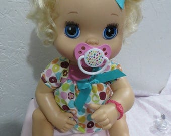 Baby Alive Pacifier for MY Baby ALIVE 2010 Interactive Doll - Colorful Dots   - Please read description