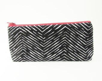 Slim Clutch - Ready to Ship - Zip Wallet - Monogram Makeup Bag - Cosmetic Bag - Pencil Case - Bridesmaid Bags