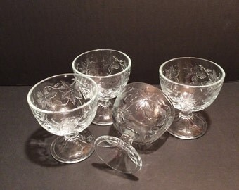 Princess House Fantasia Crystal Footed Desert Sherbets  4