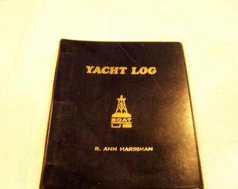Yacht Log Book,c. 1973, never used