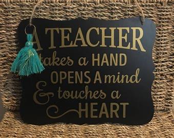 TEACHER hanging sign - PERFECT teacher gift!!!!
